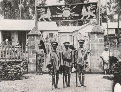 Haile Selassie's war ministry guards have bare feet