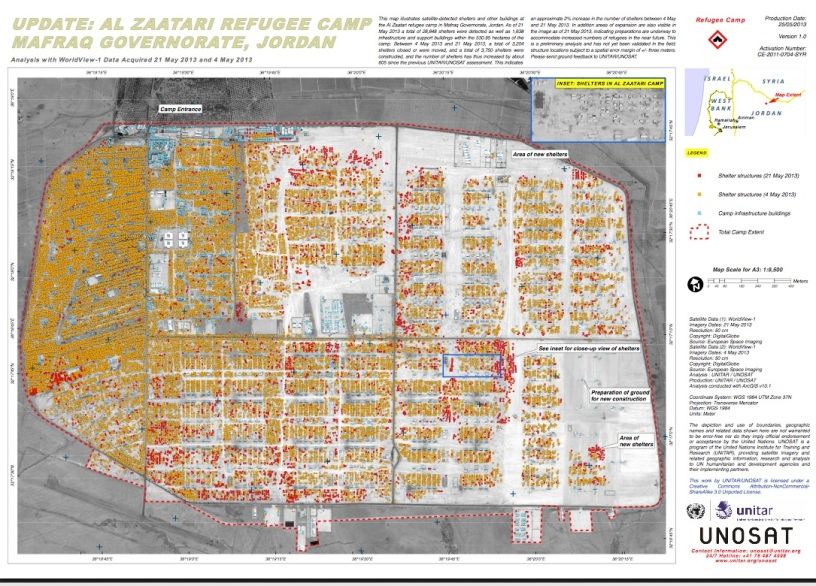 Syrian refugee camp map