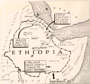Ethiopia invasion map