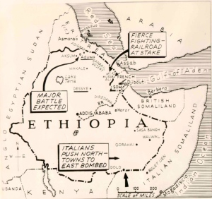 Ethiopia invasion map