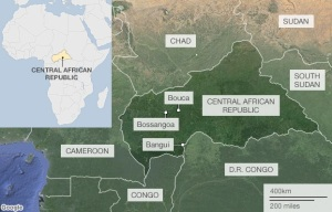 Central African Republic: BBC map