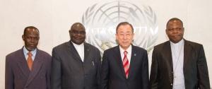 Secretary-General Ban Ki-moonÕs press encounter with religious leaders of CAR.