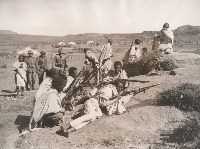 Italian and Eritrean troops after the capture of Adigrat