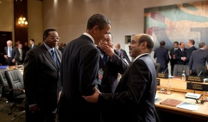 President Obama with Meles Zenawi