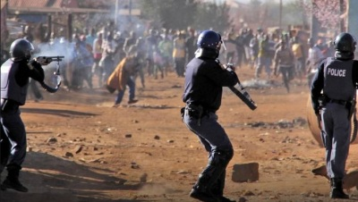 Riot police South Africa
