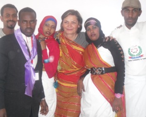 Olivera with group of Ogaden refugees