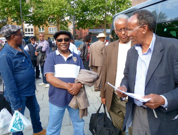 Eritreans supporting the UN Commission of Inquiry into Human Rights