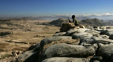 Eritrea troops on border