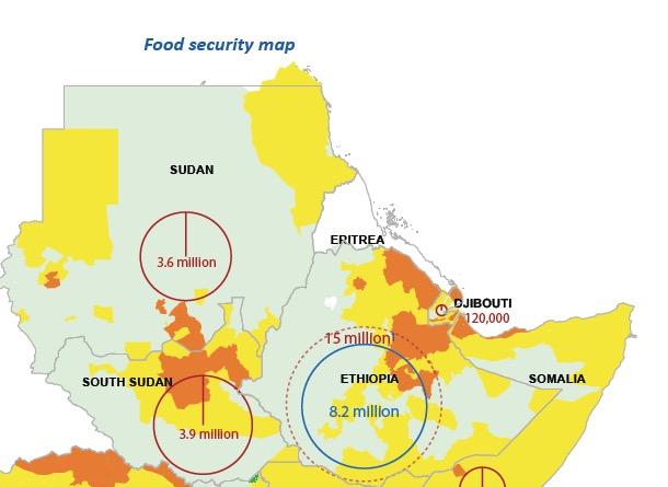 Eritrea Food Security map