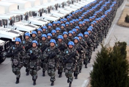 Chinese troops prepare for Sudan