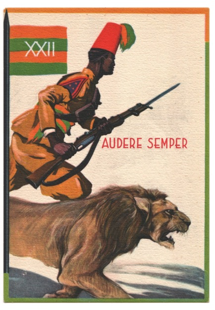 Eritrea troop postcard