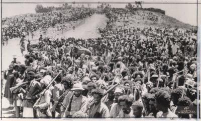 Haile Selassie addresses troops May 1941