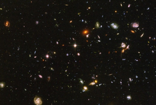 Hubble view of deep space