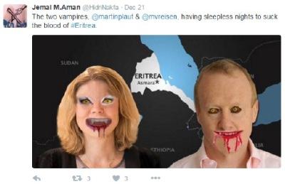 Two vampires tweet