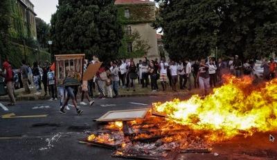 Burning UCT art