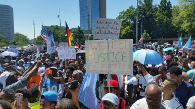 Eritreans demonstrate Geneva 23 June