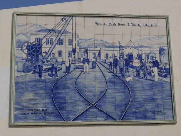 Cape Verde -  Mindelo market murals - Sao Vincente
