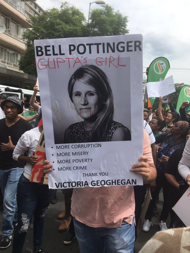 Bell Pottinger Zuma demo