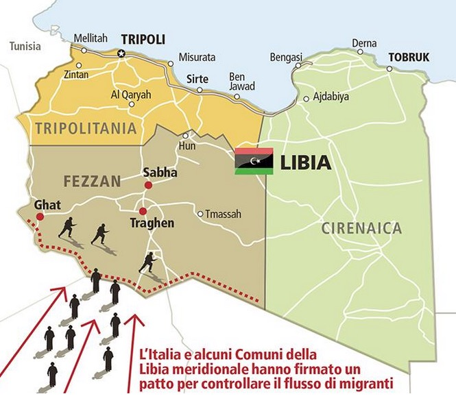 Libya To Italy Map.Italy Signs Libyan Deal Blocking Refugees Along Desert Border