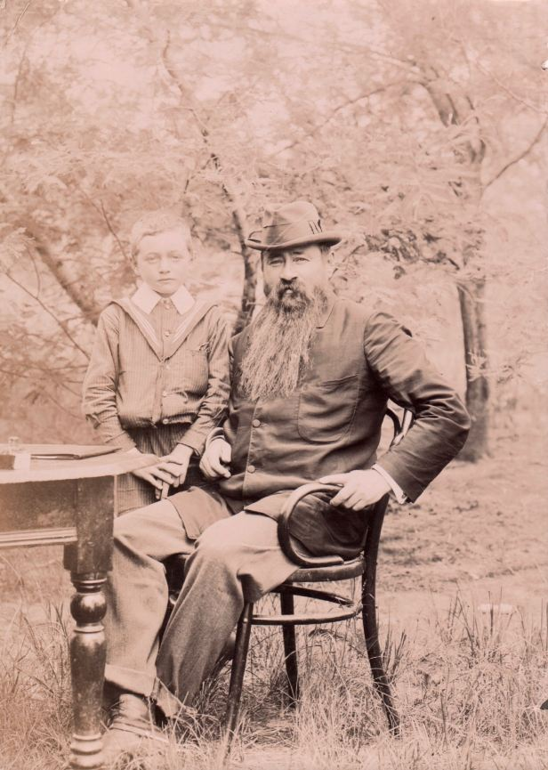 President Martinus Theunis Steyn and his eldest son