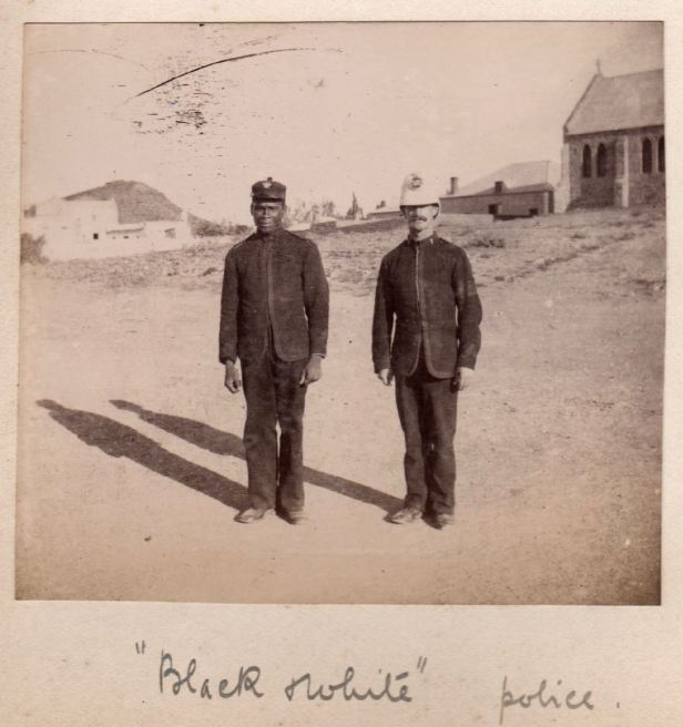 Black and white police Beaufort West Feb 1901