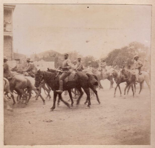 Black troops Beaufort West with Column after skirmish with Boers February 1901