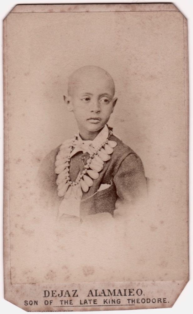 Dejaz Alamaieo, son of Ethiopian Emperor Theodore