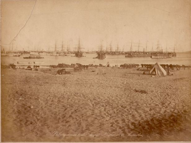 Possibly British landing Gulf of Zula, December 1867