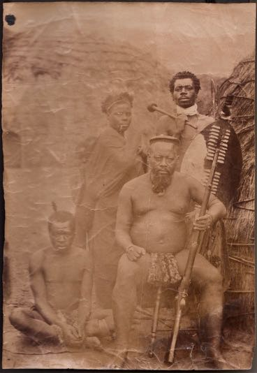 Ntshingwayo kaMahole with musket 1895