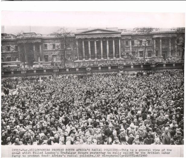 London demonstration Sharpeville 29 March 1960