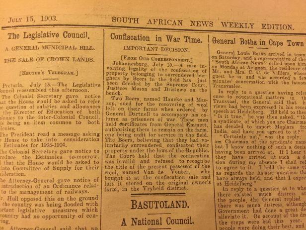 Boers Somaliland 15 July 1903
