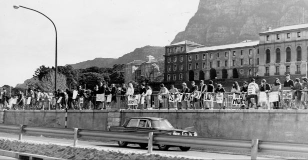 Demonstration on De Waal Drive 1968