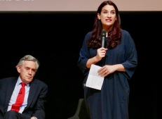 Jewish Labour Movement Conference, Gordon Brown and Luciana Berger MP thanking him