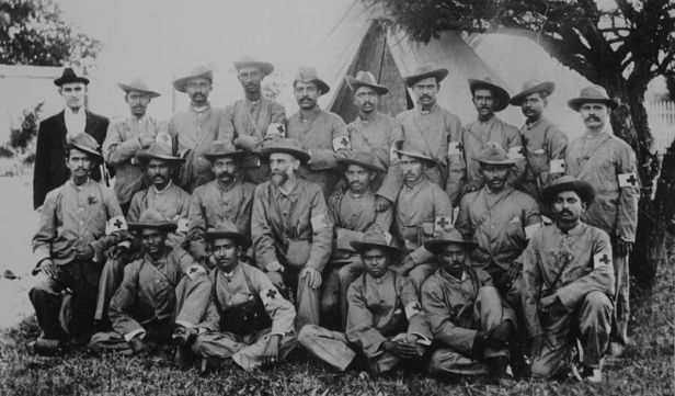 Gandhi with Indian Ambulance Corps