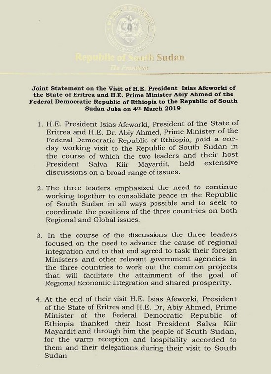 Juba statement