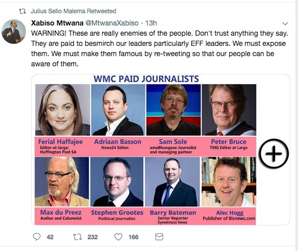 Open threats made against South African journalists