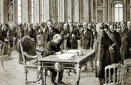 Signing of Treaty of Versailles