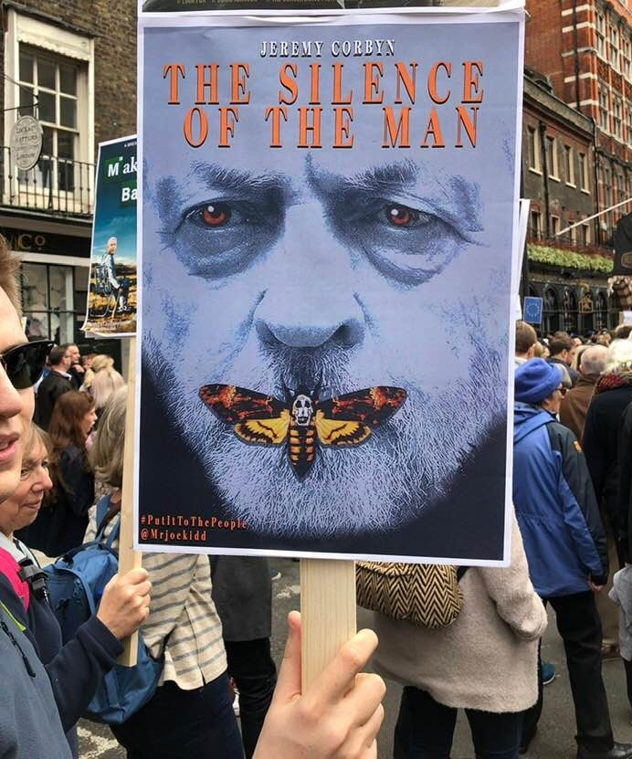 Coryn poster on anti-Brexit march