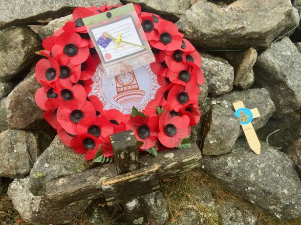 Remembrance service above Trefil