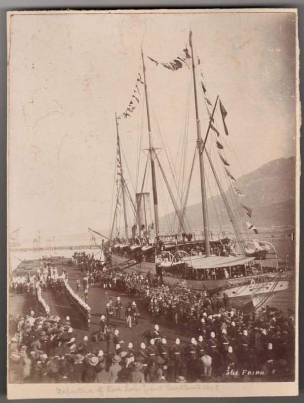 Lord Loch leaves Cape Town 1905