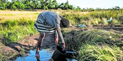Collecting water from a polluted source