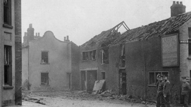 Bombed area in Great Yarmouth