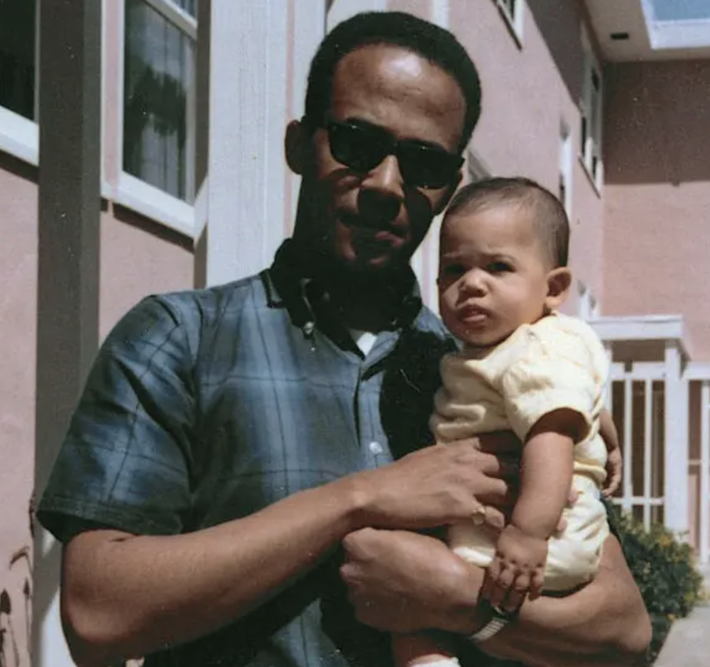 Mr. Harris with his daughter Kamala in 1965.
